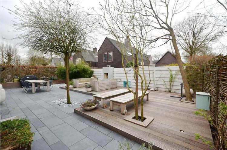 Houten Tegels Tuin : Houten tuintegels goedkoop. hardhouten tuintegel x cm with houten