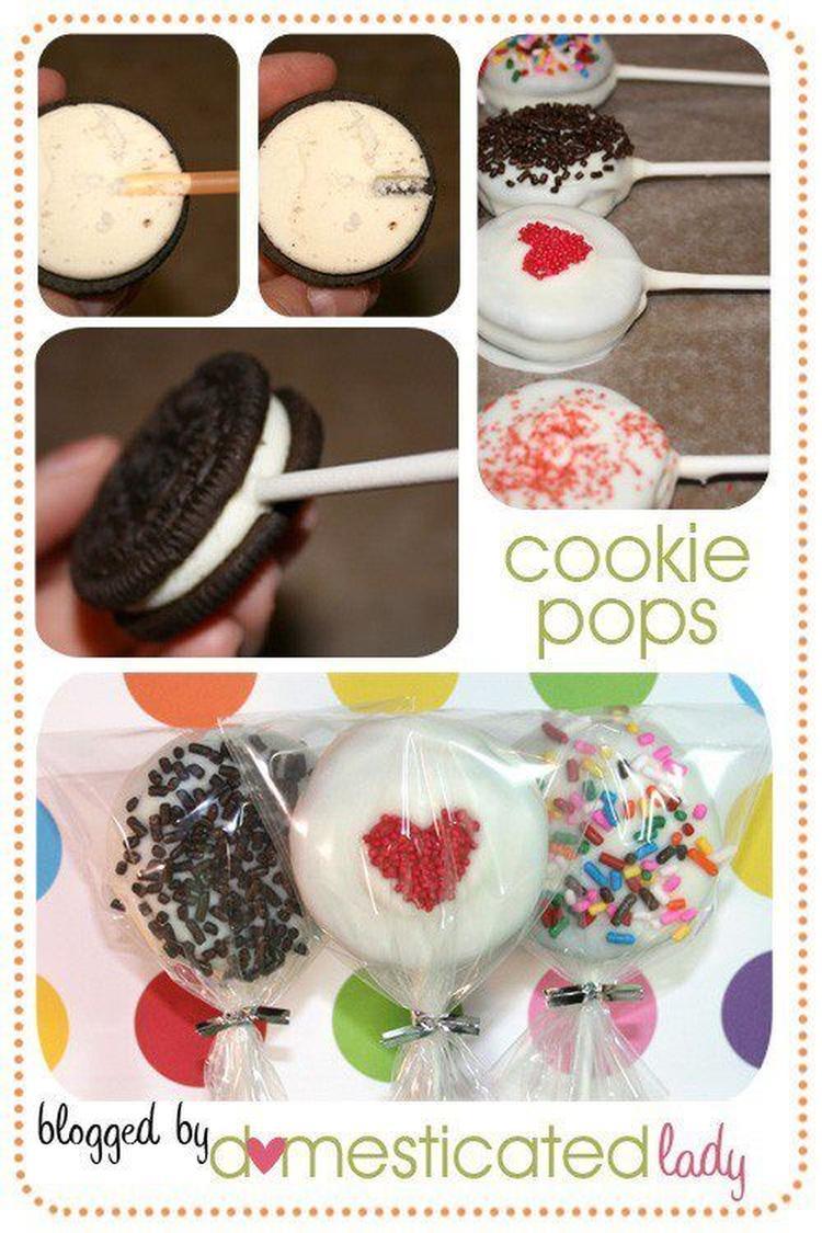 Extreem Makkelijke koekjes-lolly om te maken. Leuk als traktatie!. Foto  GI01
