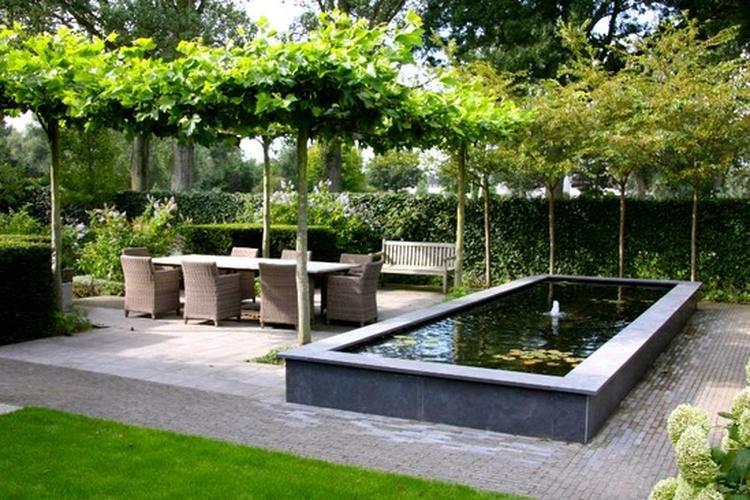 Verrassend Verhoogde vijver met terras. Foto geplaatst door Ringe op Welke.nl FX-07