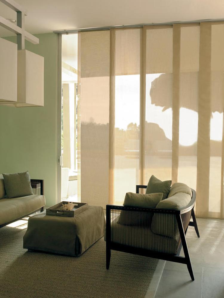 bijzondere extra brede lamellen deze raambekleding lijkt een mix tussen gordijnen en lamellen ik