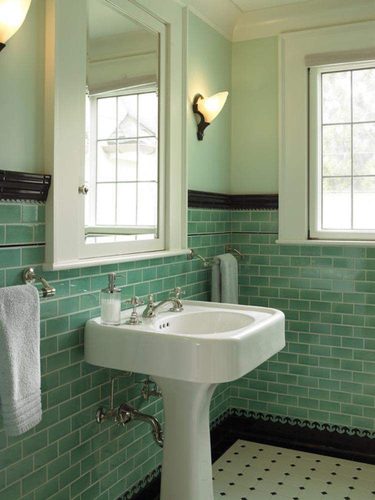 Badkamer tegels kleur - Wanddecoratie badkamertegels ...