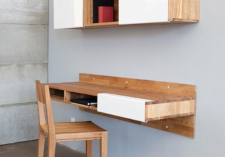Bar Plank Aan Muur.Bureau Aan De Wand Bureau Aan De Wand Van Mashstudios Mashstudios
