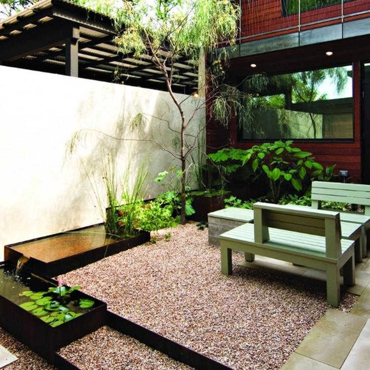 Moderne Kleine Tuin Met Grind Foto Geplaatst Door Ingeliepingelie