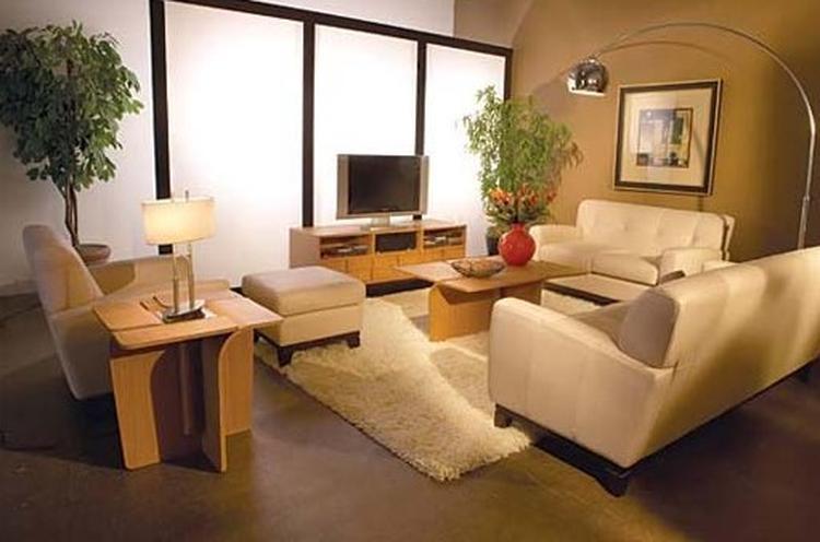 mooie inrichting en kleuren voor een kleine woonkamer. Foto ...