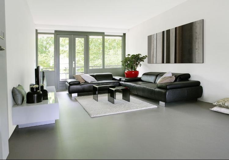 Gietvloer minimalisme. gietvloer in strakke interieur amersfoort