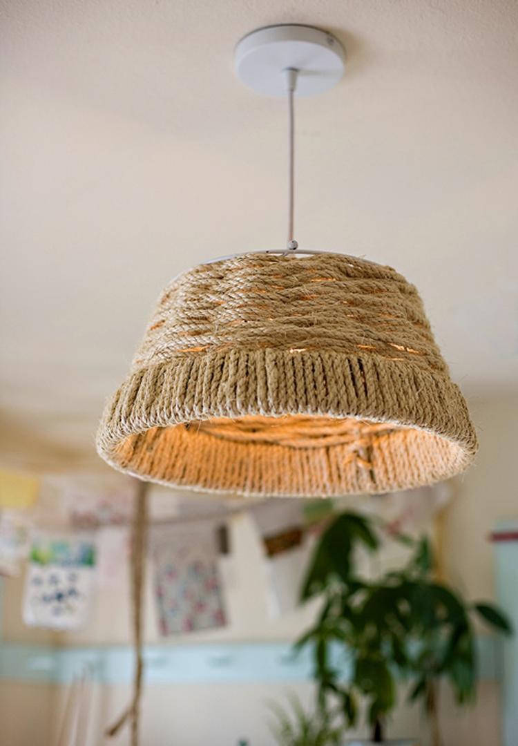Bedwelming lampenkap maken van touw. Foto geplaatst door kim-sie op Welke.nl #XL18