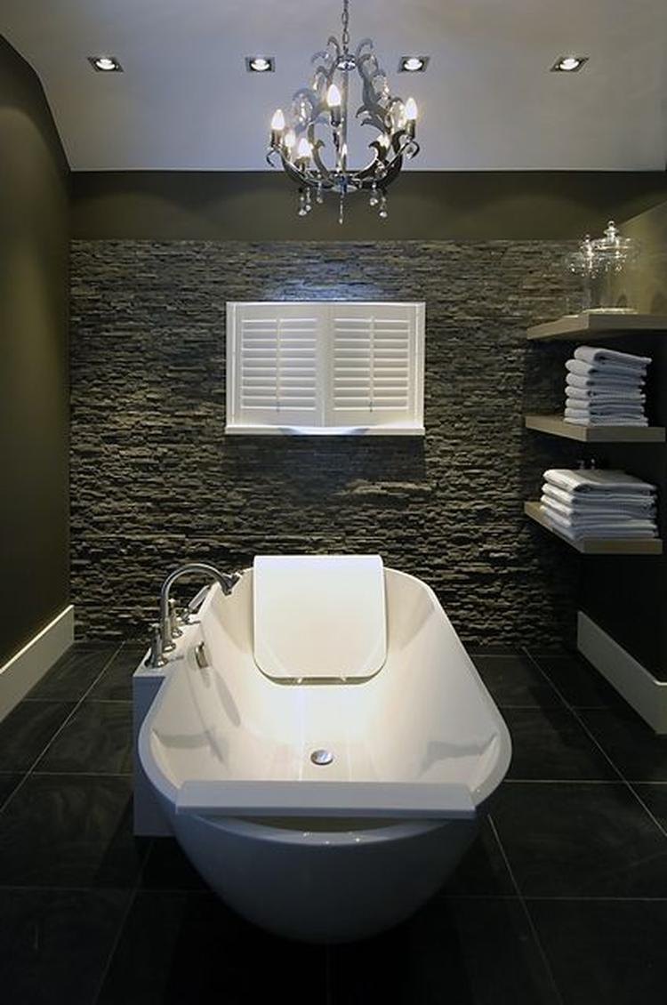 Badkamer idee steigerhout - Idee badkamer m ...