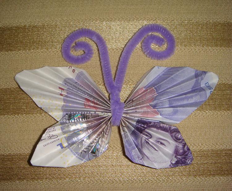 Vlinders Uit Geldleuk Cadeau Idee Foto Geplaatst Door