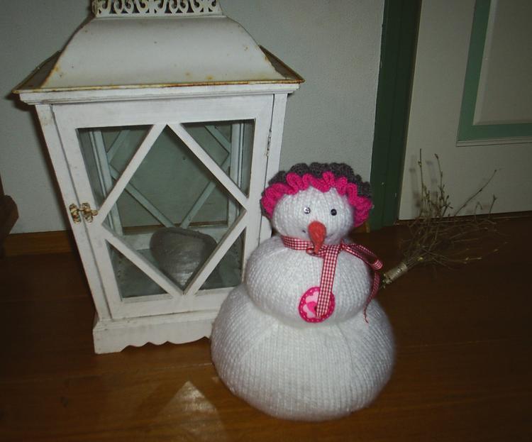 Zelfgebreide Sneeuwpoptheemuts Ik Heb Dit Op De Bonnefooi Gebreid