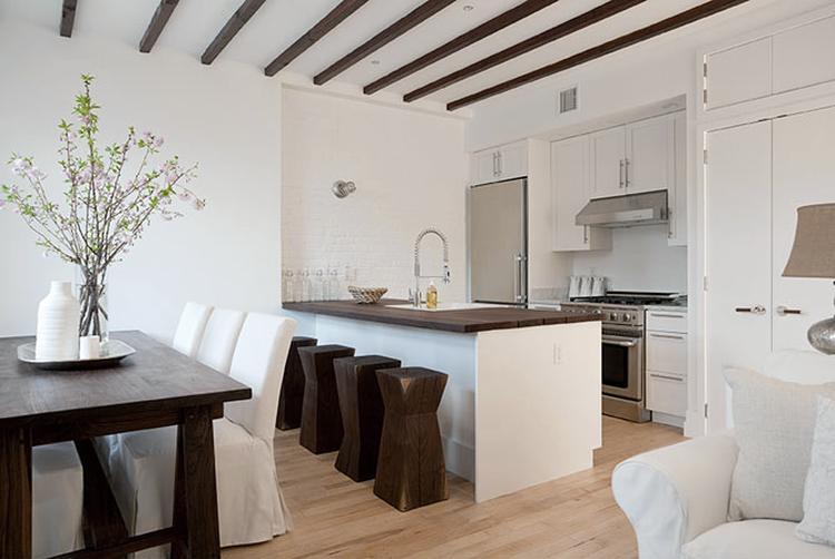 wit en donker hout in woonkamer. . Foto geplaatst door maria1 op ...
