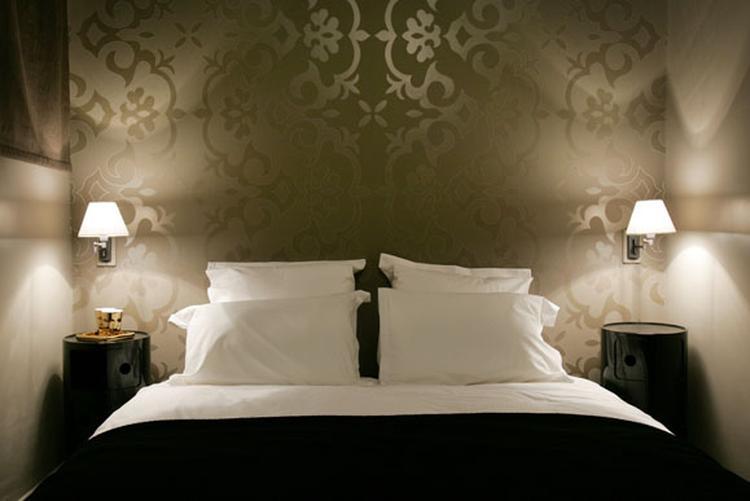 Steigerhout Behang Slaapkamer : Behang slaapkamer grijs
