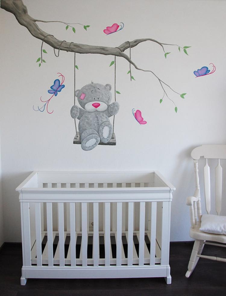 Vlinder Decoratie Babykamer.Me To You Babykamer Muurschildering Wanddecoratie Met Vlinders Voor