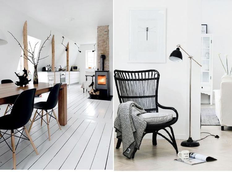 Zweeds interieur. I love it! Stoel is van IKEA. Storsele. Foto ...