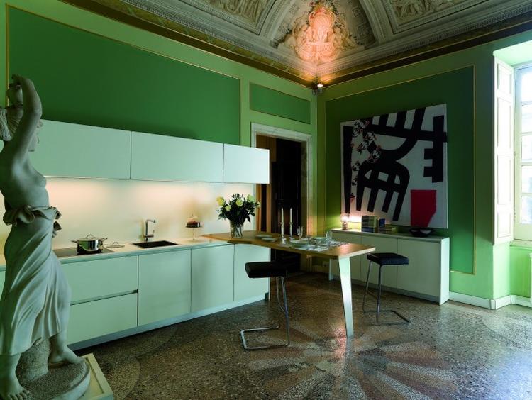 groene keuken met beeld. groene keuken met beeld . Foto geplaatst ...