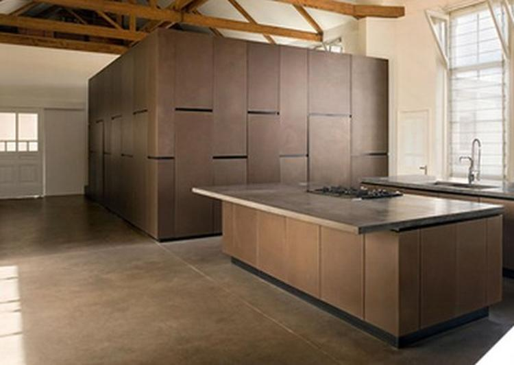 Keuken met bruine betonvloer. foto geplaatst door kristian67 op ...