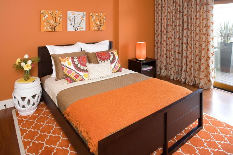 vintage oranje slaapkamer. . Foto geplaatst door tpatrikios op Welke.nl