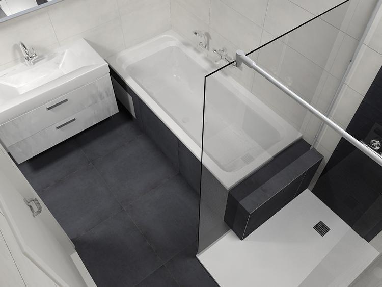 Badkamermeubel Met Douchewand : De eerste kamer badombouw loopt door tot in de douche. deze