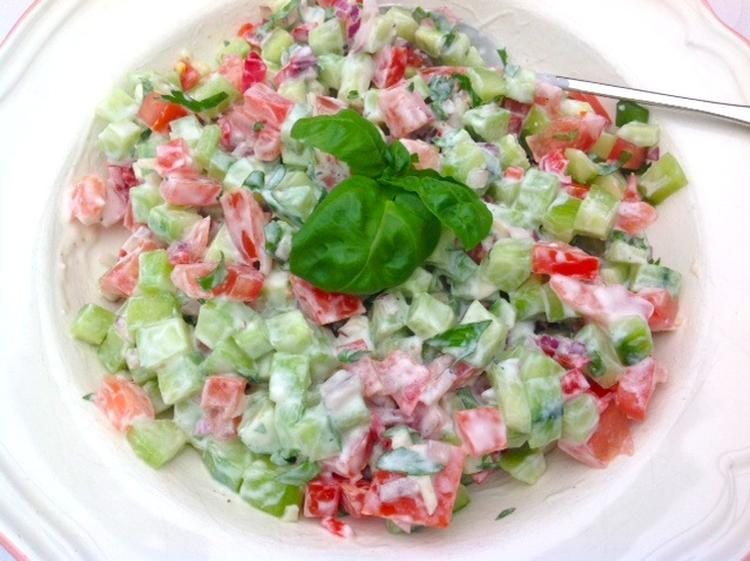 zomerse salade bbq