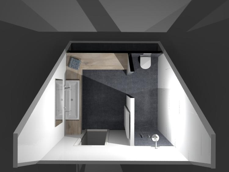 De eerste kamer strak en minimalistisch deze badkamer oogt strak