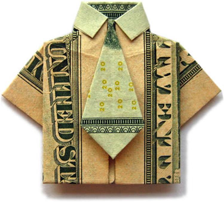 Origami Shirt Met Stropdas Foto Geplaatst Door Arsa Op Welkenl