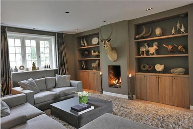 Gezellige woonkamer, met mooie geïntegreerde haard. Foto geplaatst ...