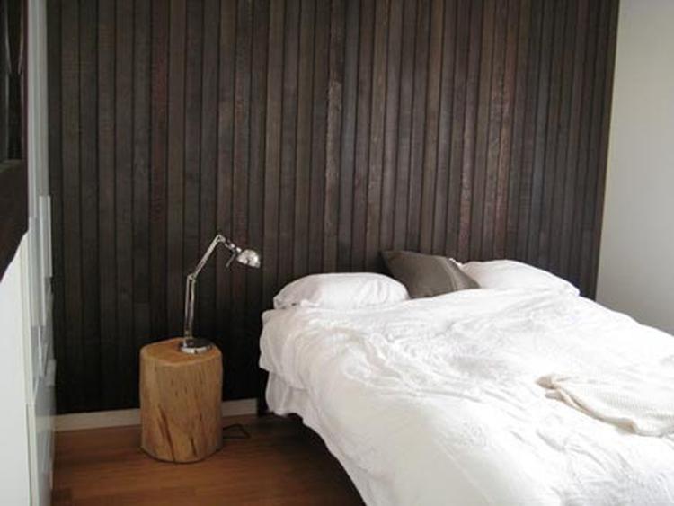 Slaapkamer Naturel Tinten : Houten achterwand slaapkamer. . foto geplaatst door ydwine op welke.nl