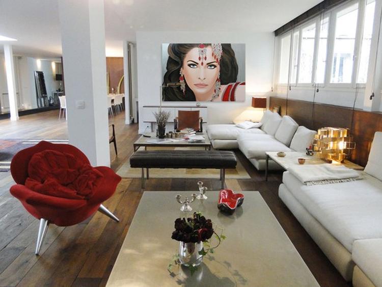 Modern Interieur Schilderij : Modern interieur met klassieke elementen hoog □ exclusieve woon
