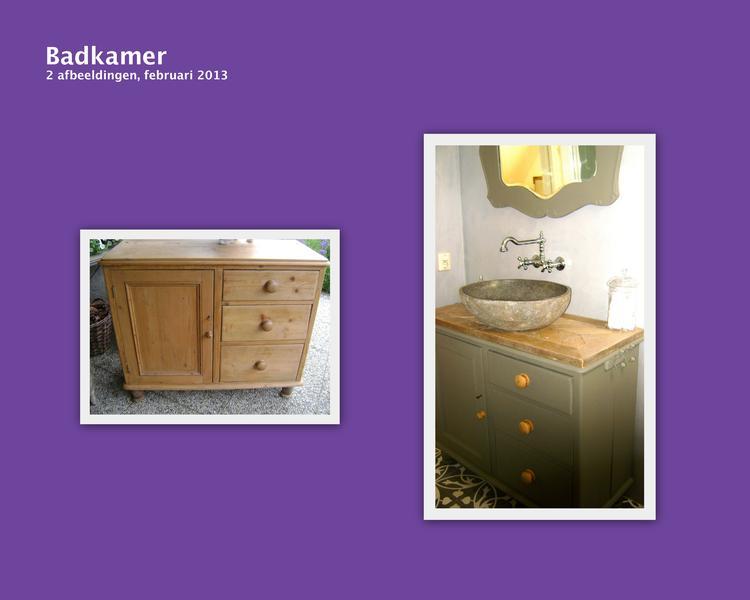 Kastje Badkamer Afbeeldingen : Badmeubel gemaakt van grenen kastje veel mooier da die