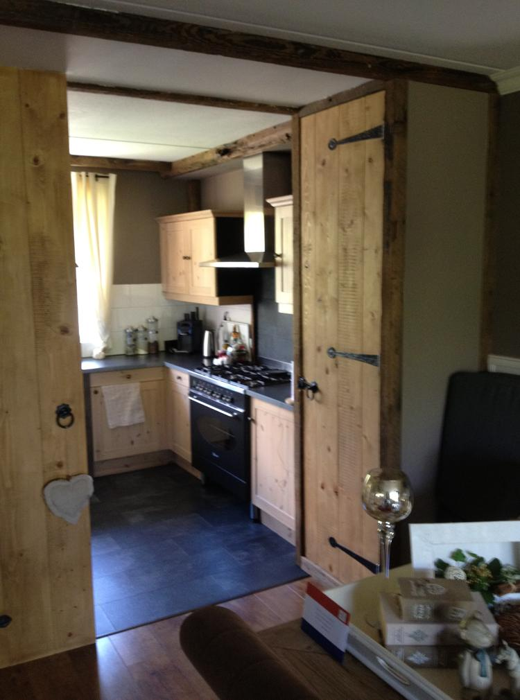 hout keuken kleine