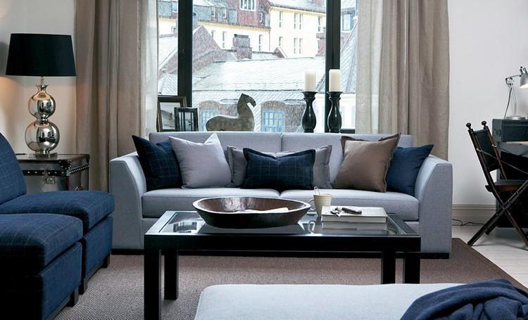 blauw bankstel » kleurinspiratie woonkamer. Foto geplaatst door ...