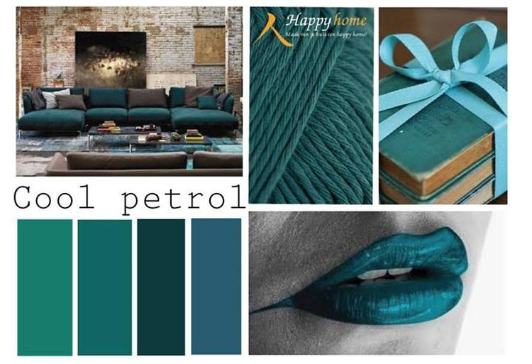Petrol een kleur die past bij grijstinten maar het ook goed doet ...