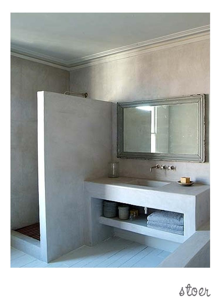 Stoere badkamer met inloopdouche. Foto geplaatst door zondag op ...