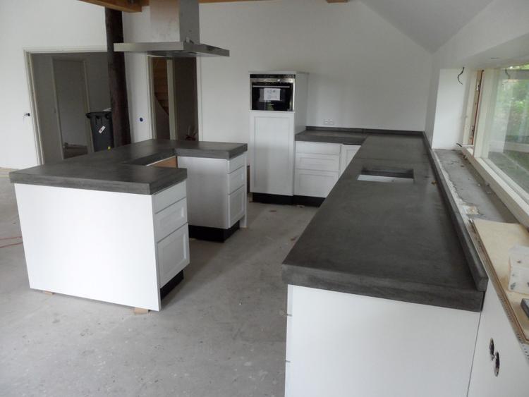 Keuken Met Betonblad : Zelf betonnen aanrechtblad maken