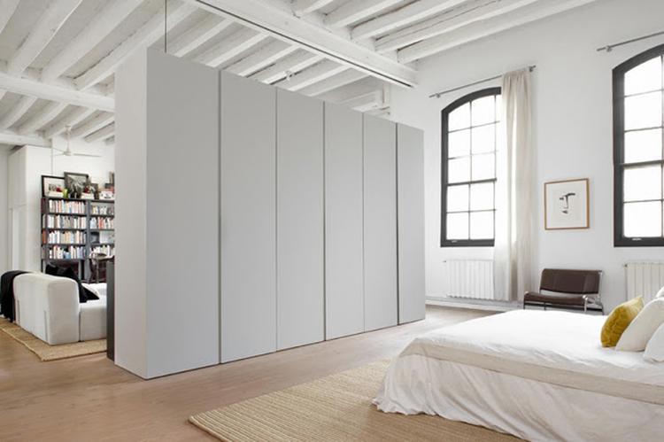 Slaapkamer boekenkast open designtrap interieur inrichting - Idee amenagement zolder klein volume ...