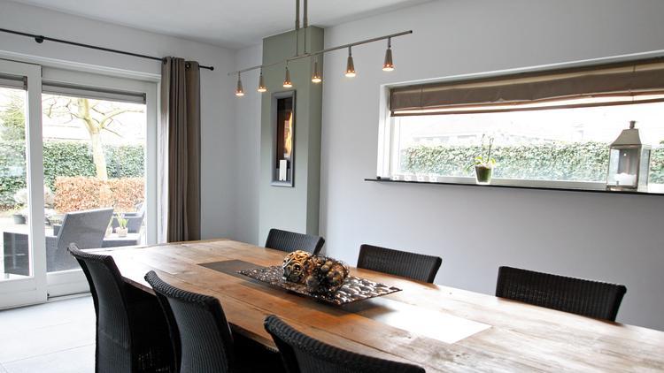 Fotobehang eetkamer muren behang woonkamer interieur ideen voor je inrichting op - Idee van de eetkamer ...