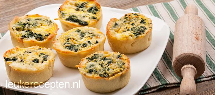 Super Hartig lunch recept of lekker voor bij de high tea; mini quiche  YF44