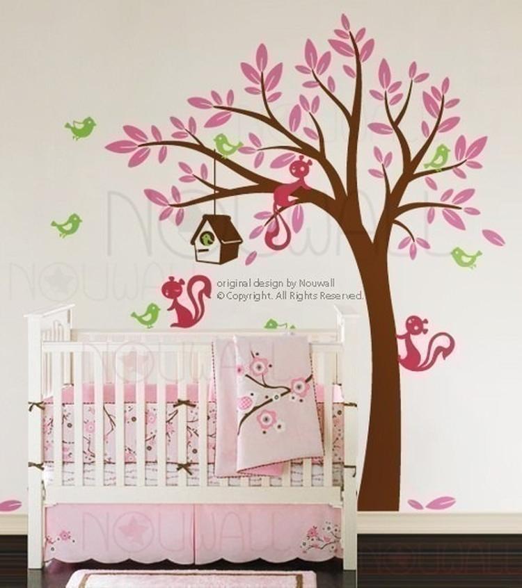 Decoratie Boom Babykamer.Kleurrijke Boom Muursticker Babykamer Foto Geplaatst Door Ammie36