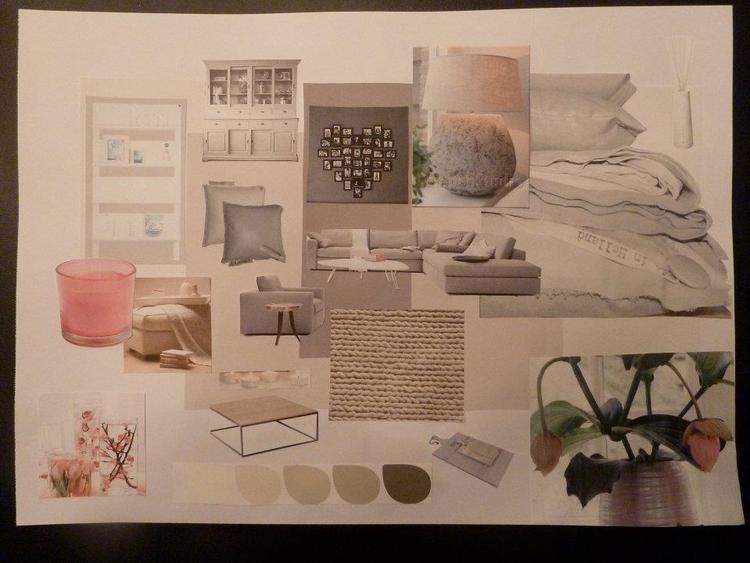 Moodboard project Restyling woonkamer jaren \'30 woning. . Foto ...