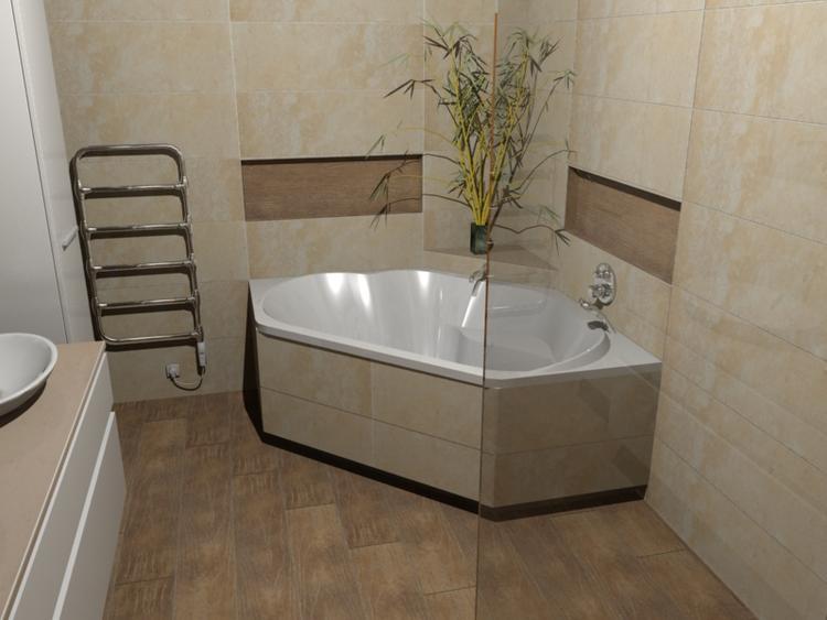 De Eerste Kamer) Een bijzonder sfeervol hoekbad. In deze badkamer ...