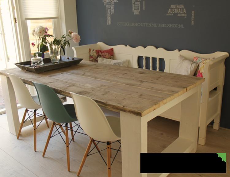 Idee voor een eettafel van steigerhout.. foto geplaatst door