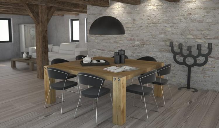 Vierkante Eikenhouten Eettafel.Vierkante Houten Tafel Foto Geplaatst Door Milanvanwersch