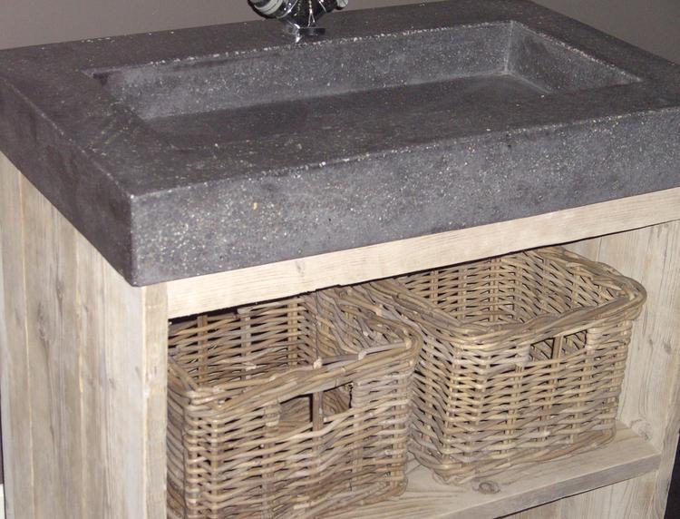 Beton wasbak keuken for Zelf maken badkamermeubel