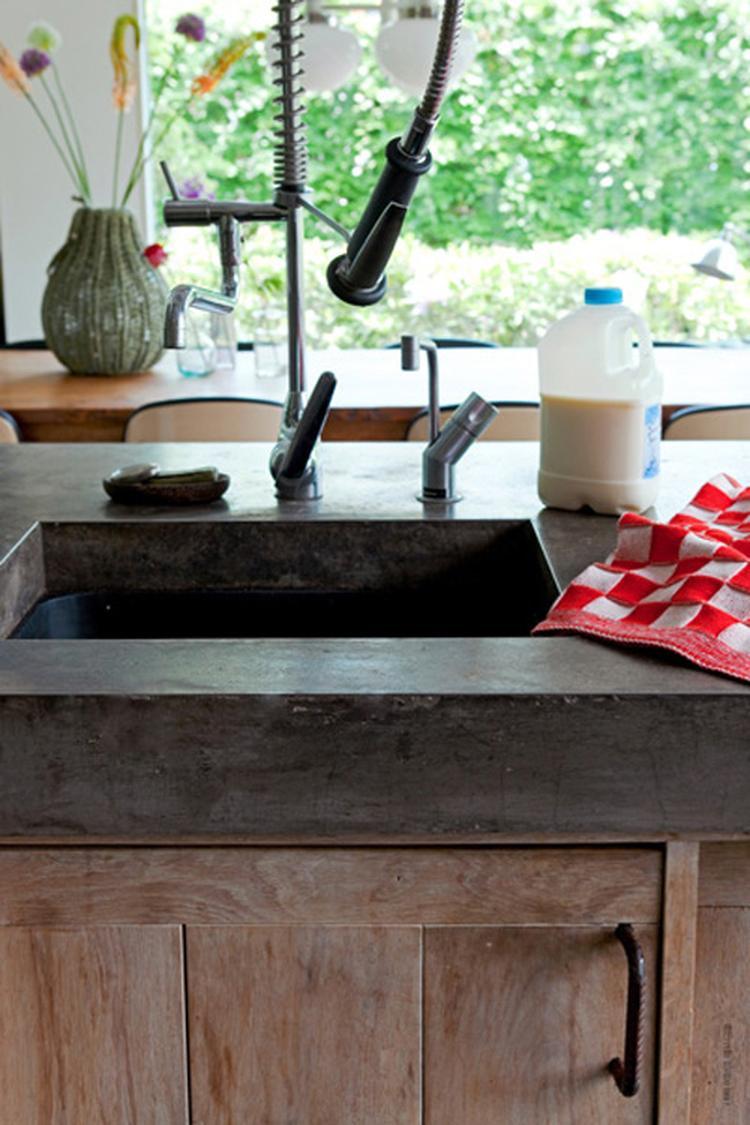 Betonlook keukenblad   tadelakt. design en landelijke stijl ...
