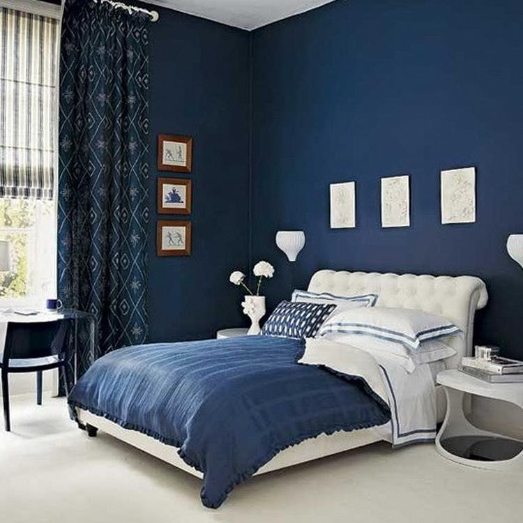 mooie warme kleur slaapkamer