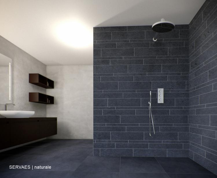 Ruime badkamer met tegels van Sphinx. De tegels uit de Servaes ...