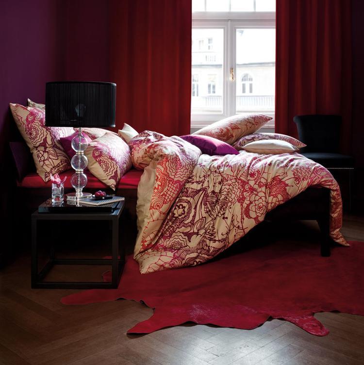 Prachtige warme kleuren in deze slaapkamer. Dekbedovertrek van ...