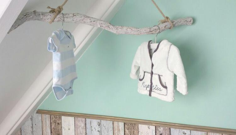 onze babykamer met echt hout & stijgerhout behang!. foto, Deco ideeën