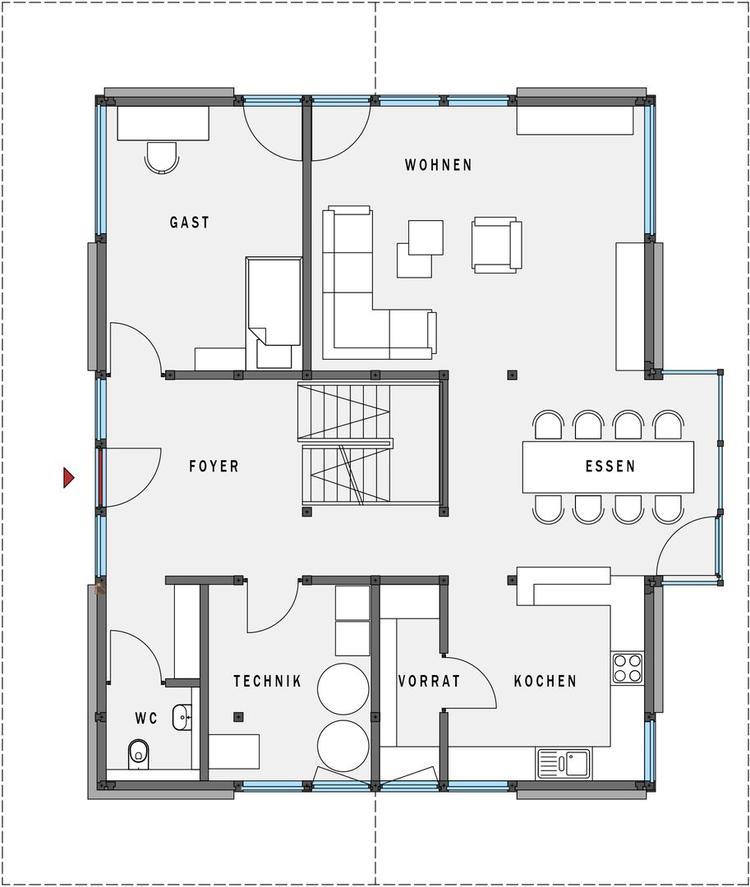 Woning plattegrond simple voorbeelden indeling woonkamer for Plattegrond woning