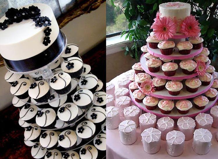 taart van cupcakes