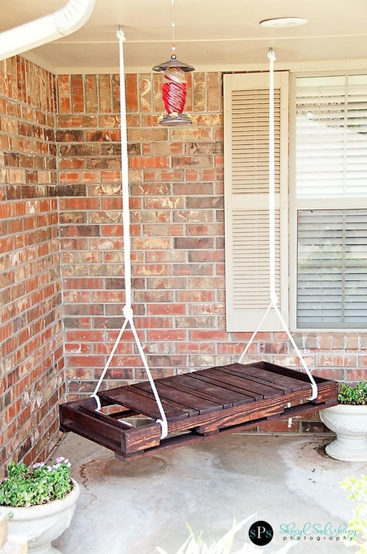 Een pallet schommel. Leuk voor tuin/serre/veranda! . Foto ...